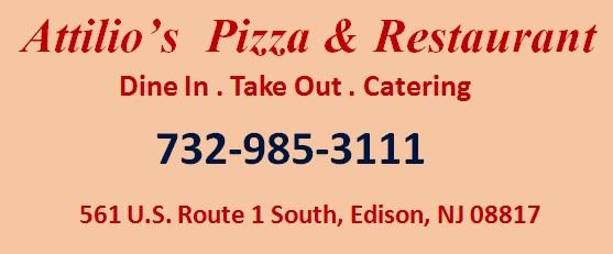 Attilio S Pizza Restaurant Edison Nj